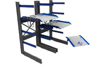 Storage and Handling - Cantilever Rack, A-Frame, Sheet Rock Dollies