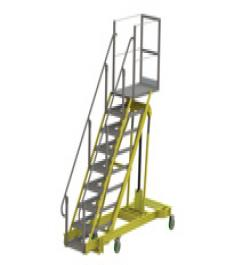 Adjustable-Height Mobile Ladder
