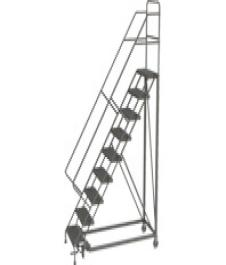 Heavy-Duty Forward Descent Safety Angle Rolling Ladder