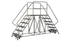 Mobile Double-Sided Steel Work Platform